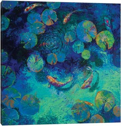 Taiwanese Blue Canvas Art Print
