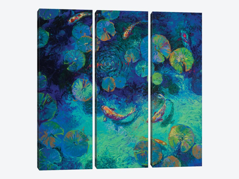 Taiwanese Blue by Iris Scott 3-piece Canvas Print