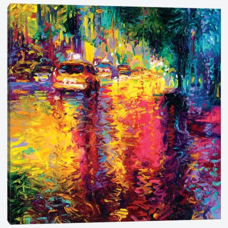 Taxi Jungle Canvas Print #IRS84} by Iris Scott Canvas Artwork