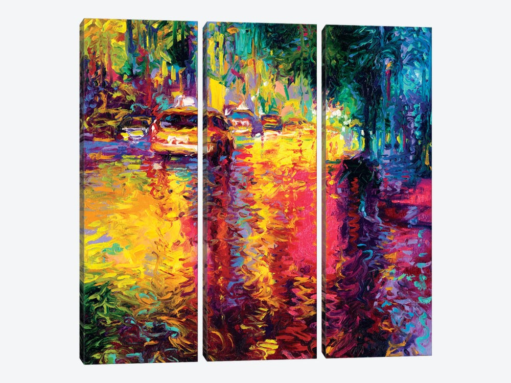 Taxi Jungle by Iris Scott 3-piece Canvas Artwork