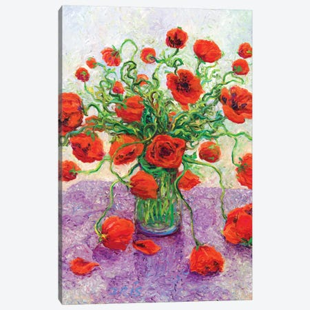 The Color Poppy Canvas Print #IRS86} by Iris Scott Canvas Wall Art