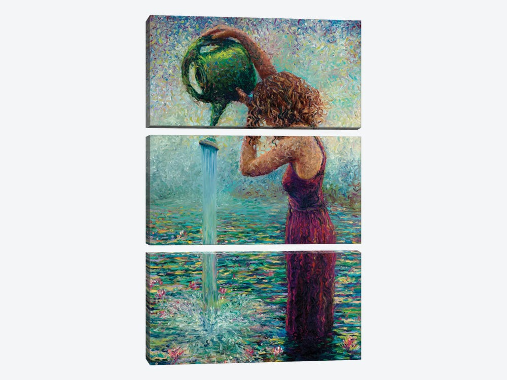 Thirsty Water Lilies by Iris Scott 3-piece Canvas Artwork
