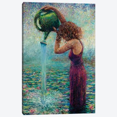 Thirsty Water Lilies Canvas Print #IRS88} by Iris Scott Canvas Art Print