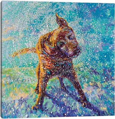 Twisted Blue Canvas Art Print