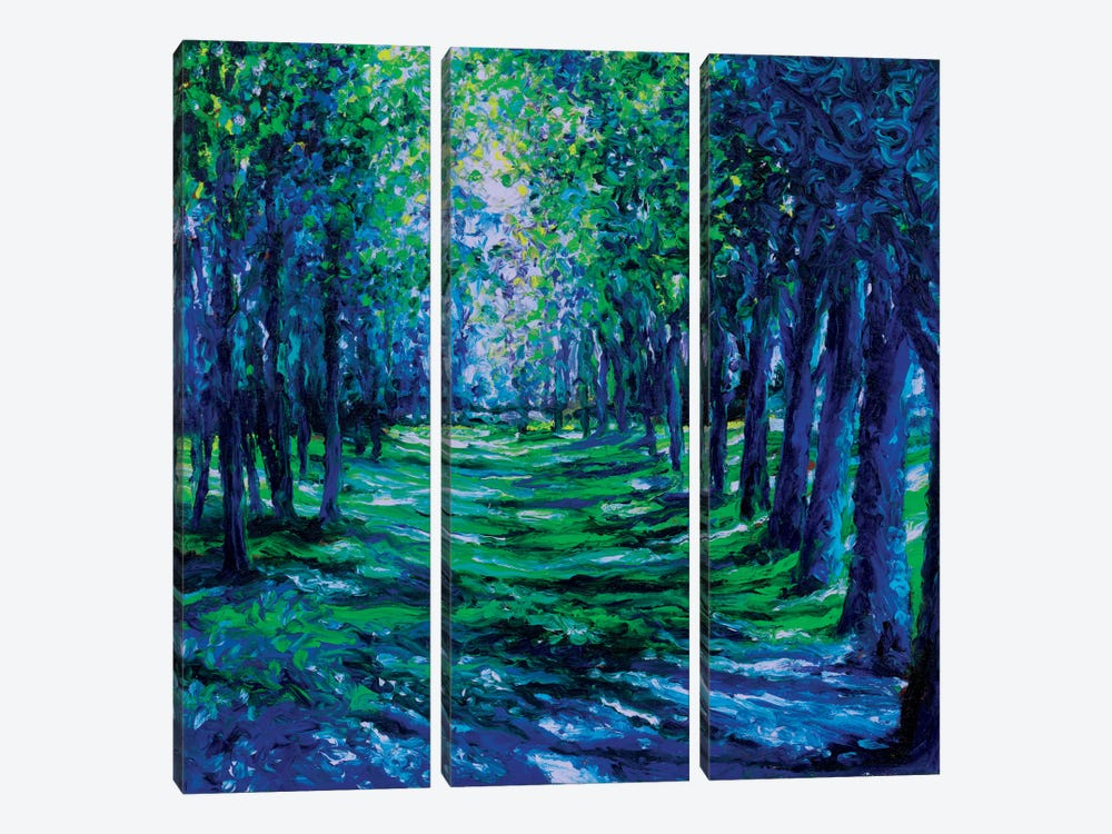 Blue Evergreens by Iris Scott 3-piece Canvas Print