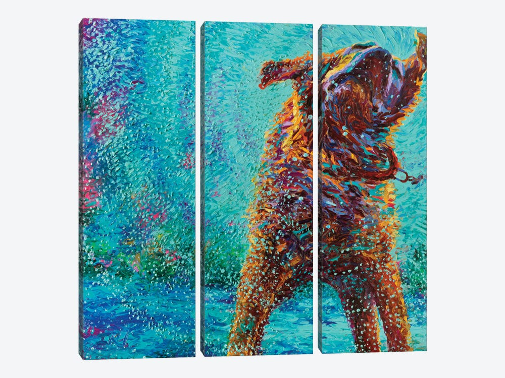 Underdog Blues by Iris Scott 3-piece Canvas Art Print