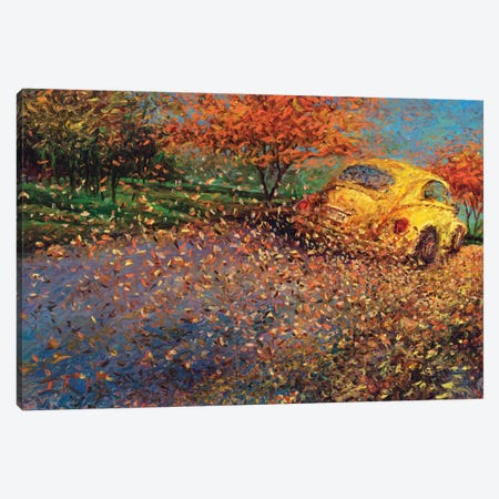 Volkswagen Yellow Canvas Print #IRS93} by Iris Scott Canvas Artwork