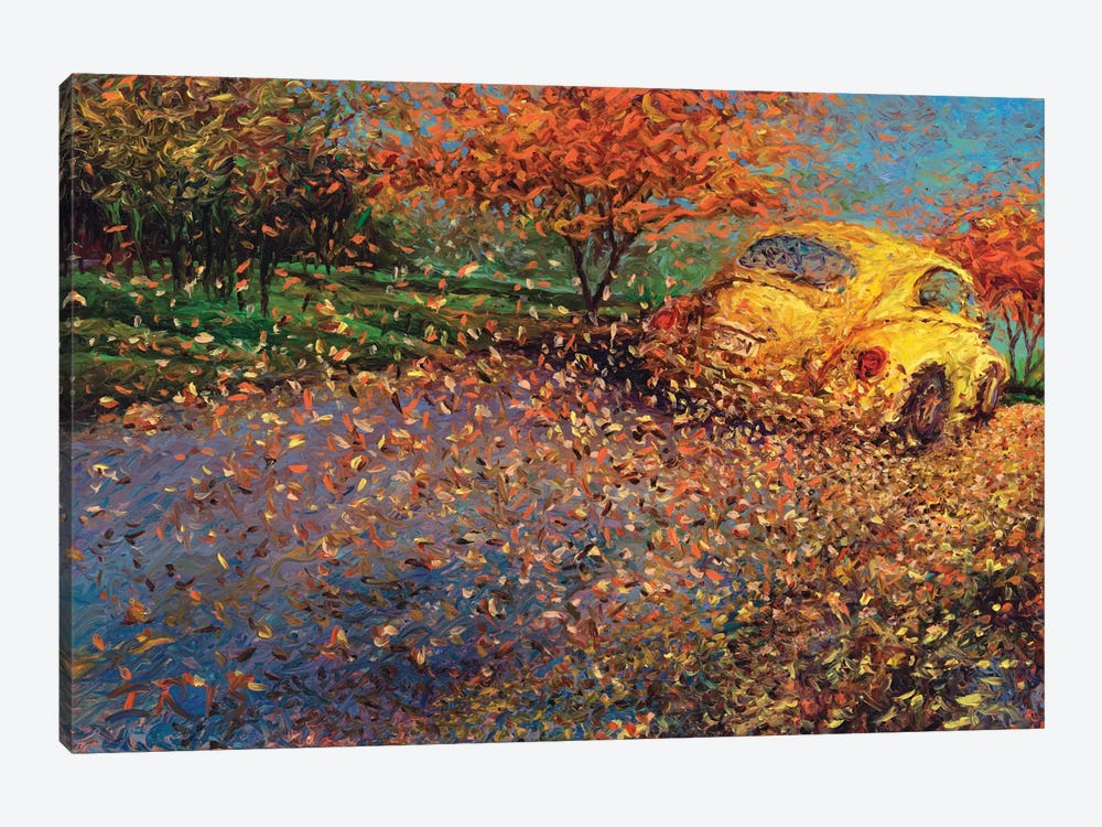 Volkswagen Yellow by Iris Scott 1-piece Canvas Artwork