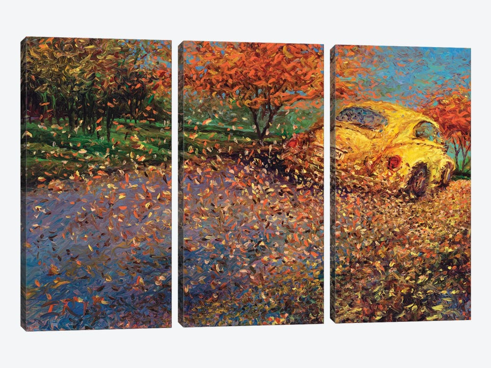 Volkswagen Yellow by Iris Scott 3-piece Canvas Artwork