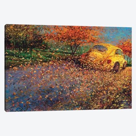 Volkswagen Yellow Canvas Print #IRS93} by Iris Scott Canvas Artwork