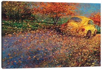 Volkswagen Yellow Canvas Art Print