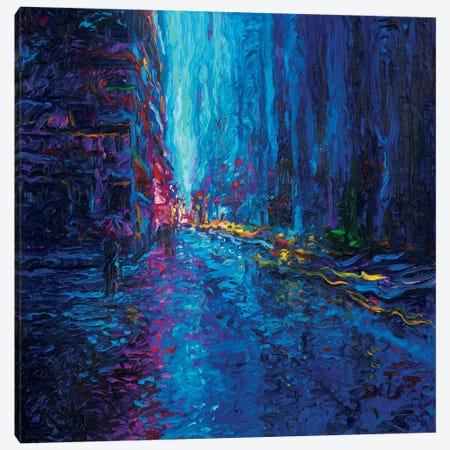 Waterfall Street Canvas Print #IRS94} by Iris Scott Art Print