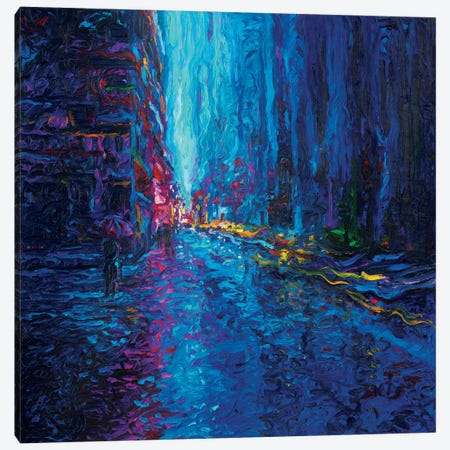 Waterfall Street Canvas Print #IRS94} by Iris Scott Art Print