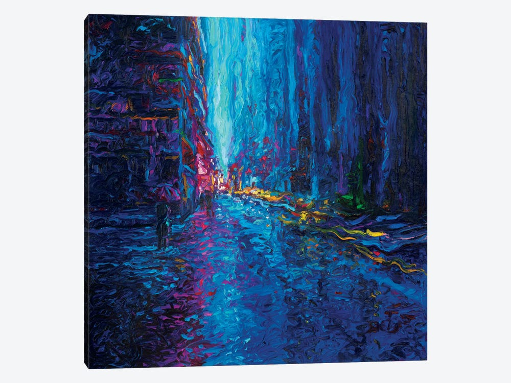 Waterfall Street by Iris Scott 1-piece Canvas Art Print
