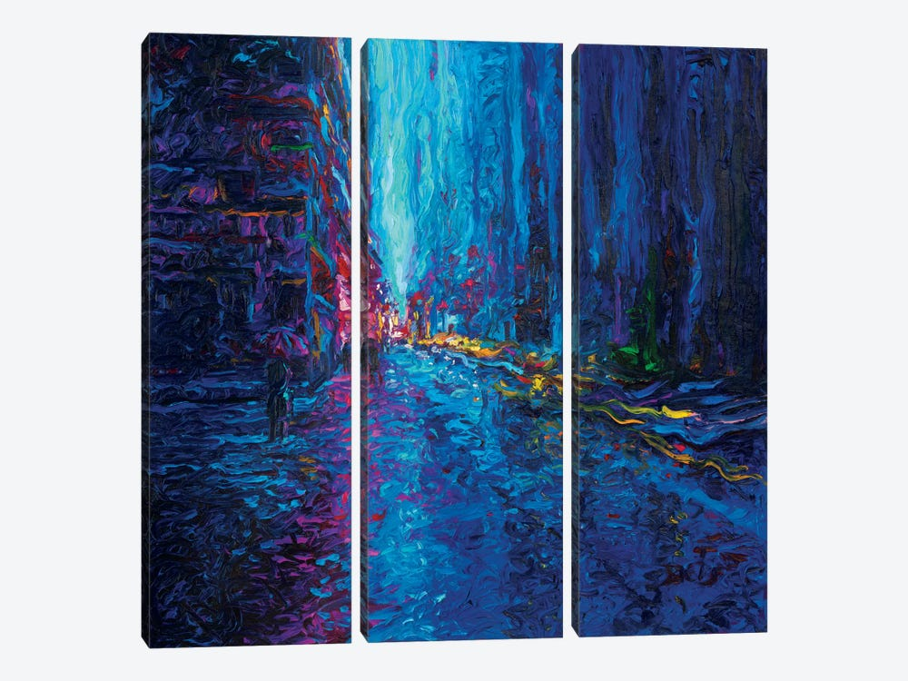 Waterfall Street by Iris Scott 3-piece Art Print