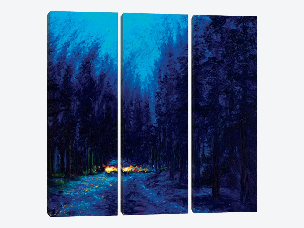 Blue Redwoods by Iris Scott 3-piece Canvas Artwork