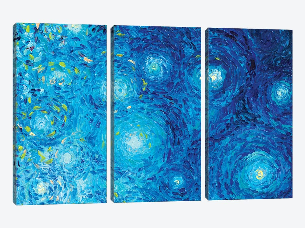 BM 024 by Iris Scott Abstracts 3-piece Canvas Wall Art