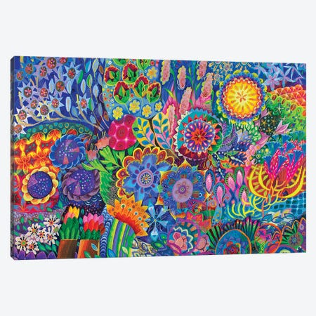 It's a Jungle Out There Canvas Print #ISK16} by Imogen Skelley Canvas Artwork
