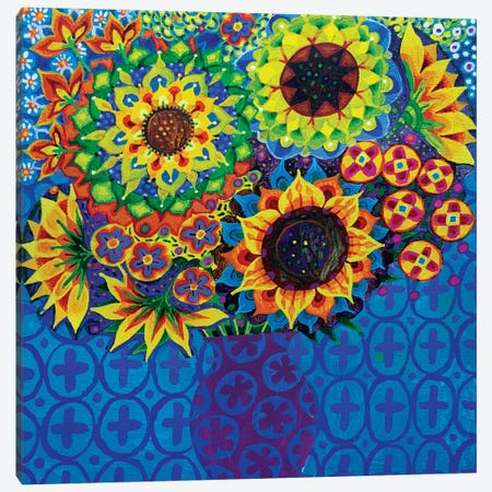 Sunflowers I Canvas Print #ISK20} by Imogen Skelley Canvas Wall Art