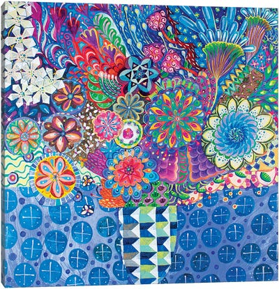 The Geometric Vase Canvas Art Print