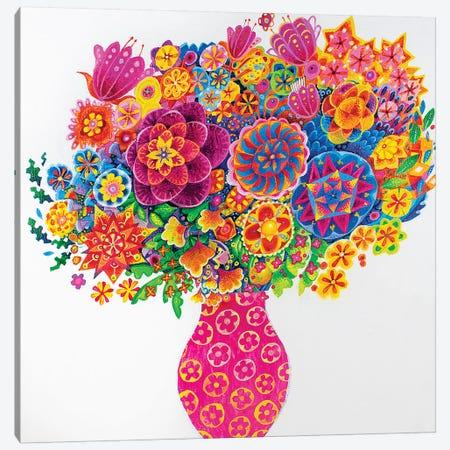 The Pink Vase Canvas Print #ISK28} by Imogen Skelley Canvas Art