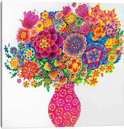 The Pink Vase Canvas Art Print