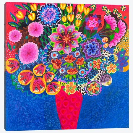 The Red Vase Canvas Print #ISK30} by Imogen Skelley Canvas Print