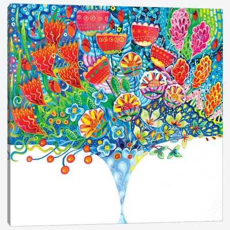 The Unfeasibly Narrow Vase Canvas Print #ISK33} by Imogen Skelley Art Print