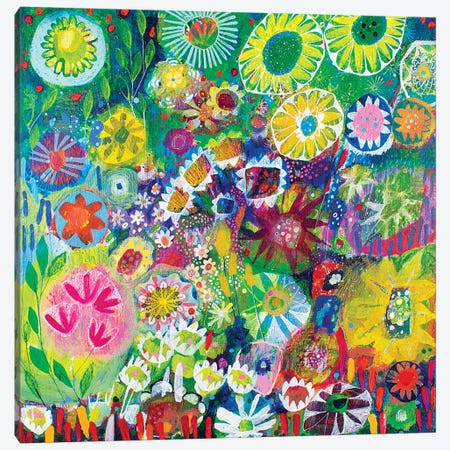 Wandering Through the Garden Canvas Print #ISK36} by Imogen Skelley Canvas Art