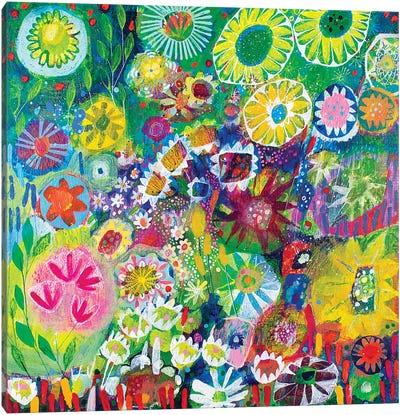 Wandering Through the Garden Canvas Art Print