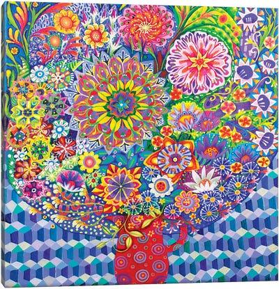 The Mosaic Wall Canvas Art Print