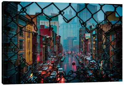 Bad Weather In Chinatown Canvas Art Print