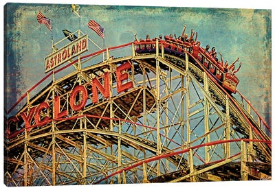 On The Cyclone Canvas Art Print