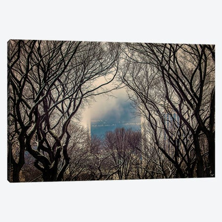 Winter At The Mall Canvas Print #ISL190} by Chris Lord Art Print