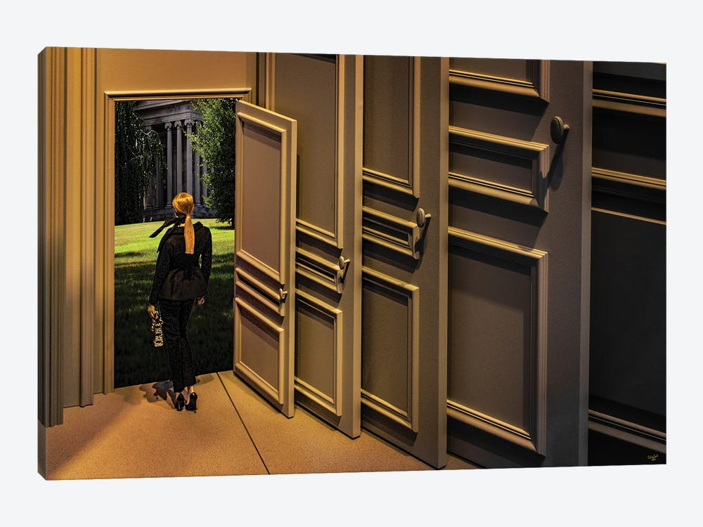 She's Going Places by Chris Lord 1-piece Canvas Print