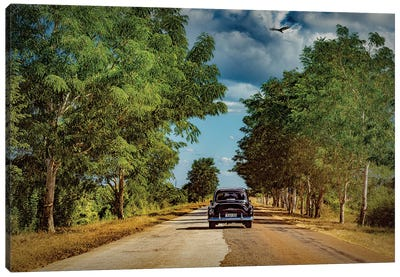 Chevy On The Move Canvas Art Print