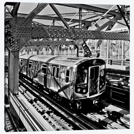 Crossing The Williamsburg Canvas Print #ISL247} by Chris Lord Canvas Artwork
