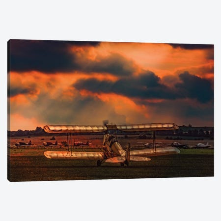 Morning At The Aerodrome Canvas Print #ISL253} by Chris Lord Canvas Wall Art