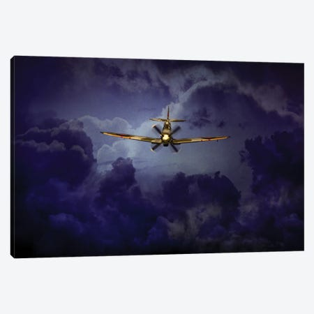 Spitfire Above The Storm Canvas Print #ISL262} by Chris Lord Art Print