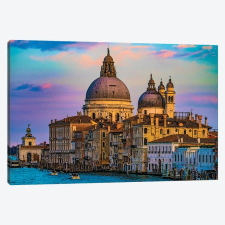 Basilica On The Grand Canal Canvas Print #ISL278} by Chris Lord Canvas Wall Art