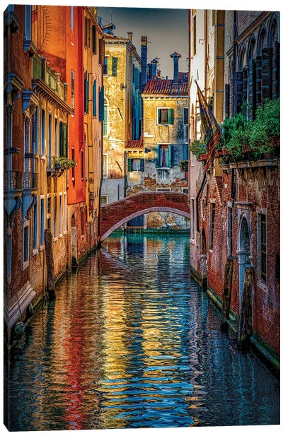 Canals Of Gold Canvas Art Print