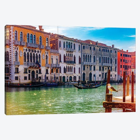 Grand Canal Buildings Canvas Print #ISL294} by Chris Lord Canvas Print