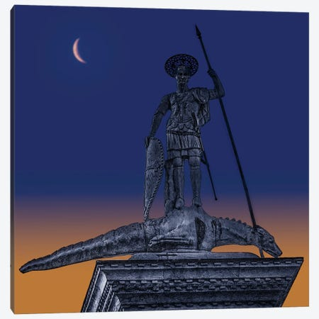 St. Marks Square Sculpture Canvas Print #ISL305} by Chris Lord Canvas Art Print