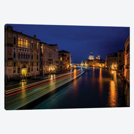 The Grand Canal At Night Canvas Print #ISL307} by Chris Lord Art Print