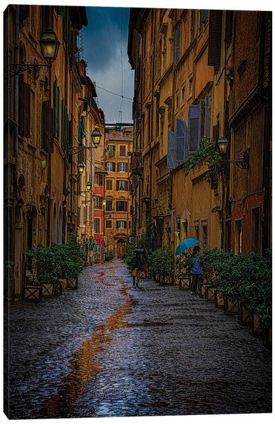 Back Streets Of Rome Canvas Art Print