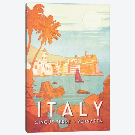 Italy-Cinque Terra Canvas Print #ISS17} by Missy Ames Canvas Wall Art