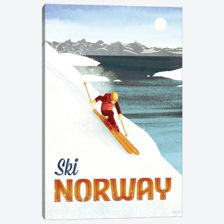 Norway-Skiing Canvas Print #ISS19} by Missy Ames Art Print