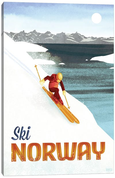 Norway-Skiing Canvas Art Print