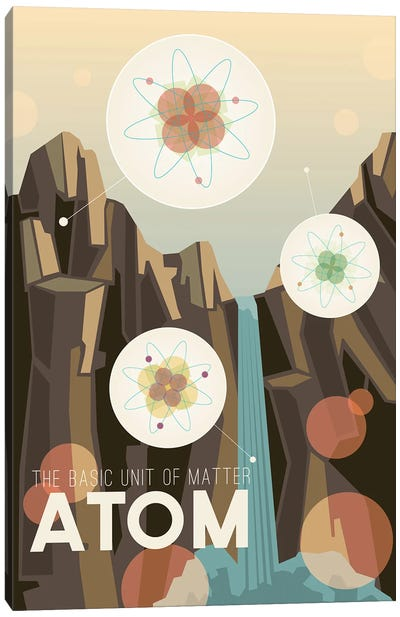 A Is For ATOM Canvas Art Print