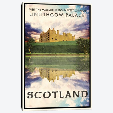 Scotland-Linlithgow Lake Canvas Print #ISS22} by Missy Ames Canvas Art